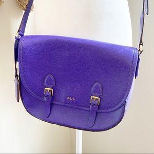 Ralph Lauren Tate Leather Crossbody Purse Bag